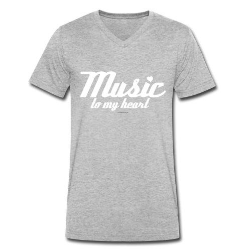 music to my H png - Mannen bio T-shirt met V-hals van Stanley & Stella