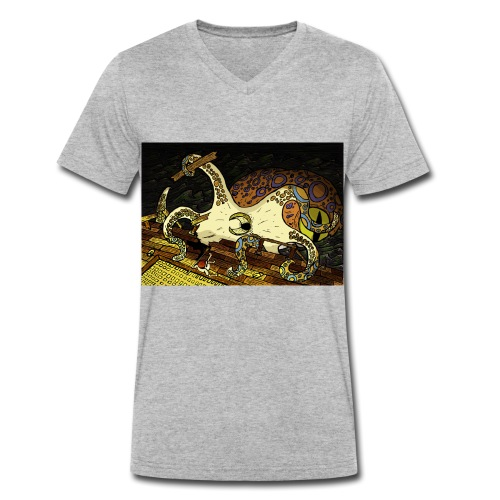 be the octopus - Men's Organic V-Neck T-Shirt by Stanley & Stella