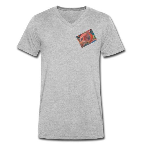 Iris, die Farbenfrohe - Männer Bio-T-Shirt mit V-Ausschnitt von Stanley & Stella