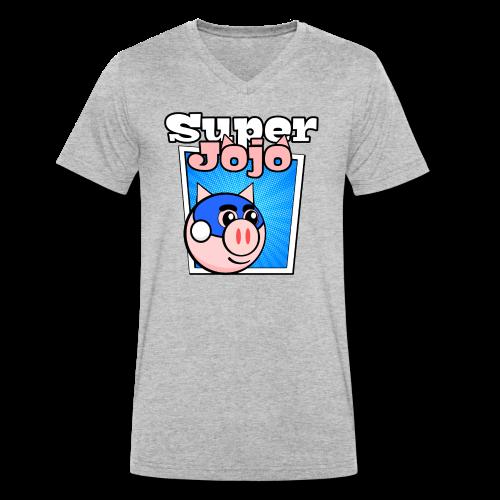 Super Jojo Game Icon - Men's Organic V-Neck T-Shirt by Stanley & Stella