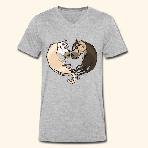 Chevaux amoureux gris-gris - T-shirt bio col V Stanley & Stella Homme