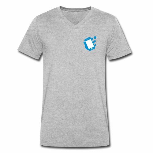 Smartphone-Tennis Logo Print - Männer Bio-T-Shirt mit V-Ausschnitt von Stanley & Stella
