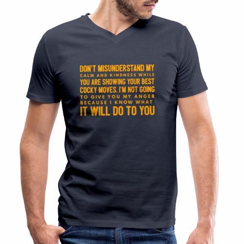 confidence - Økologisk Stanley & Stella T-shirt med V-udskæring til herrer