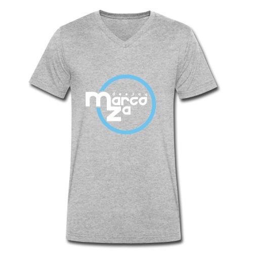 Logo White - DJ MARCOZA - Männer Bio-T-Shirt mit V-Ausschnitt von Stanley & Stella