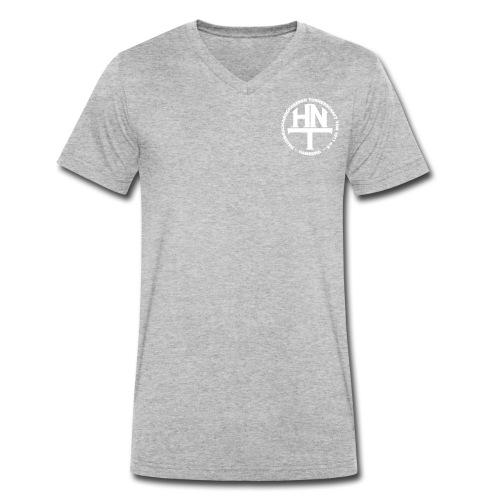 hnt logo vector weiss - Männer Bio-T-Shirt mit V-Ausschnitt von Stanley & Stella