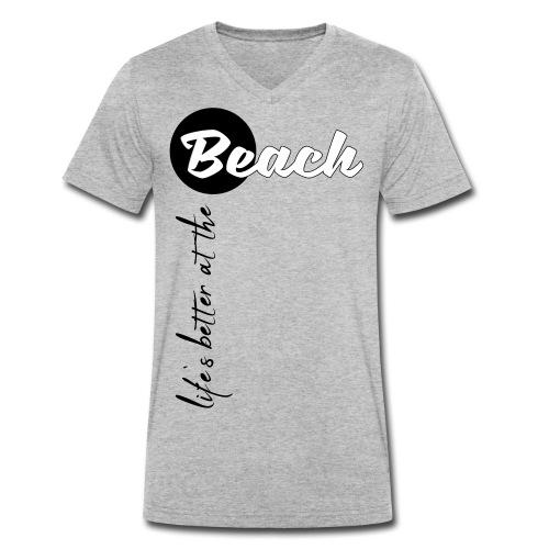 Strandleben - Männer Bio-T-Shirt mit V-Ausschnitt von Stanley & Stella
