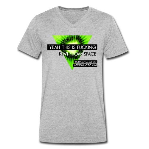 VEYM Kiwi from Space - Männer Bio-T-Shirt mit V-Ausschnitt von Stanley & Stella