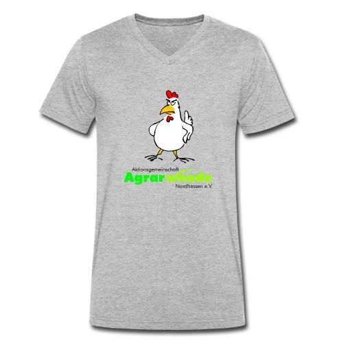 AGA Shirt mit Huhn - groß - Männer Bio-T-Shirt mit V-Ausschnitt von Stanley & Stella