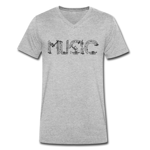 Musique - T-shirt bio col V Stanley & Stella Homme