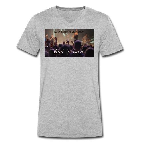 GOD is LOVE. - Männer Bio-T-Shirt mit V-Ausschnitt von Stanley & Stella