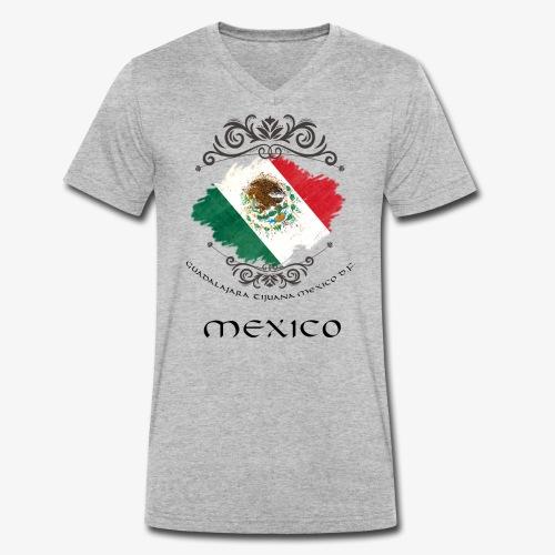 Mexico Vintage Bandera - Männer Bio-T-Shirt mit V-Ausschnitt von Stanley & Stella