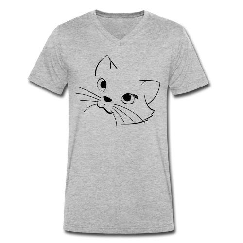 En söt katt - Ekologisk T-shirt med V-ringning herr från Stanley & Stella
