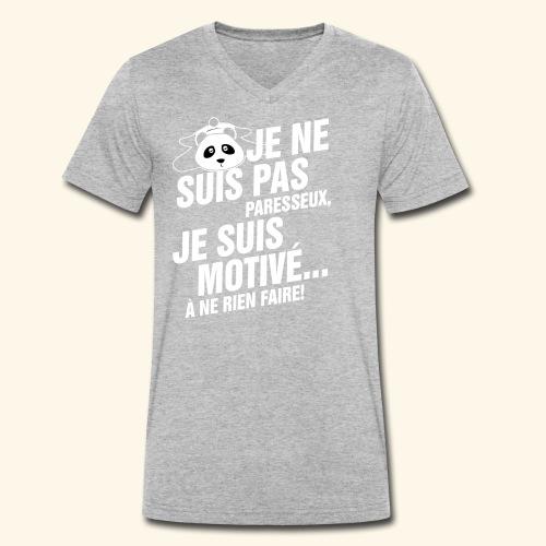 not lazy 2 - T-shirt bio col V Stanley & Stella Homme