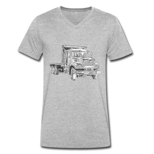 Flatbed Truck 3-axle - Men's Organic V-Neck T-Shirt by Stanley & Stella