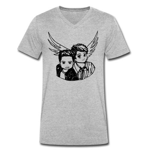 Destiel (Silhuet) - Økologisk Stanley & Stella T-shirt med V-udskæring til herrer
