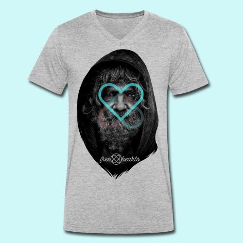 freehearts against poverty - Männer Bio-T-Shirt mit V-Ausschnitt von Stanley & Stella