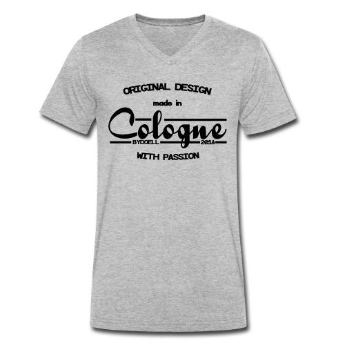 Cologne Original - Schwarz - Männer Bio-T-Shirt mit V-Ausschnitt von Stanley & Stella
