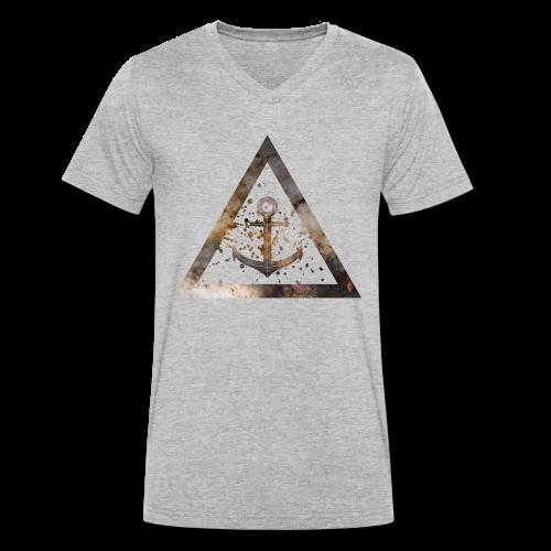 Galaxy Anchor Geometry Triangle - Männer Bio-T-Shirt mit V-Ausschnitt von Stanley & Stella