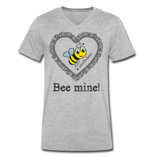 Bees3 - save the bees | bee mine! - Men's Organic V-Neck T-Shirt by Stanley & Stella