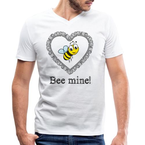 Bees3-2 save the bees | bee mine! - Men's Organic V-Neck T-Shirt by Stanley & Stella