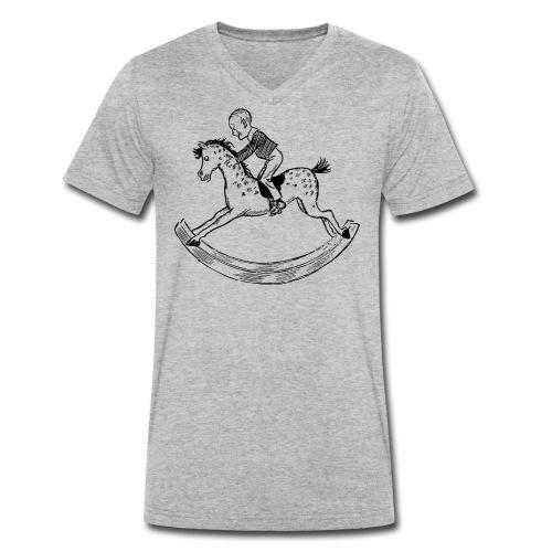 konik na biegunach - Ekologiczna koszulka męska z dekoltem w serek Stanley & Stella