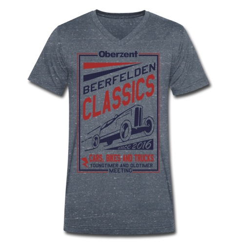 Retroshirt Classics - Männer Bio-T-Shirt mit V-Ausschnitt von Stanley & Stella
