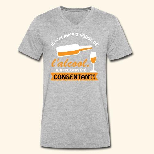 alcool - T-shirt bio col V Stanley & Stella Homme