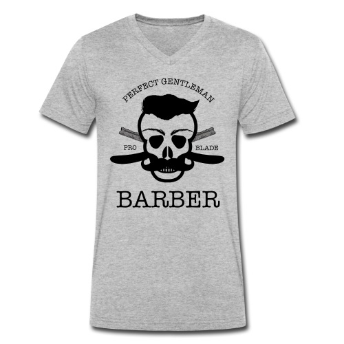 Perfect Gentleman Barber - Men's Organic V-Neck T-Shirt by Stanley & Stella