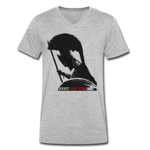 FIGHT FOR YOURSELF Spartan - T-shirt ecologica da uomo con scollo a V di Stanley & Stella