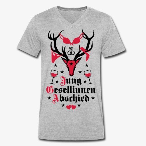 167 Hirsch Junggesellinnenabschied JGA Frauen - Männer Bio-T-Shirt mit V-Ausschnitt von Stanley & Stella