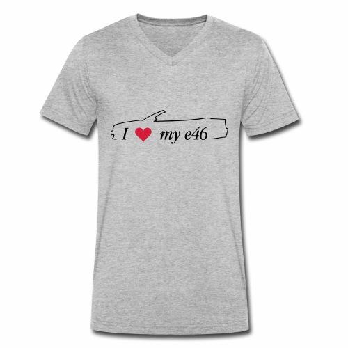 I Love my e46 Cabrio - Männer Bio-T-Shirt mit V-Ausschnitt von Stanley & Stella