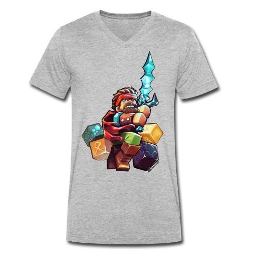 BDcraft Hero - Men's Organic V-Neck T-Shirt by Stanley & Stella