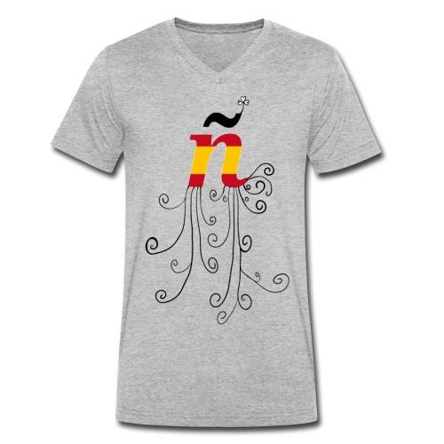 eÑe - Camiseta ecológica hombre con cuello de pico de Stanley & Stella