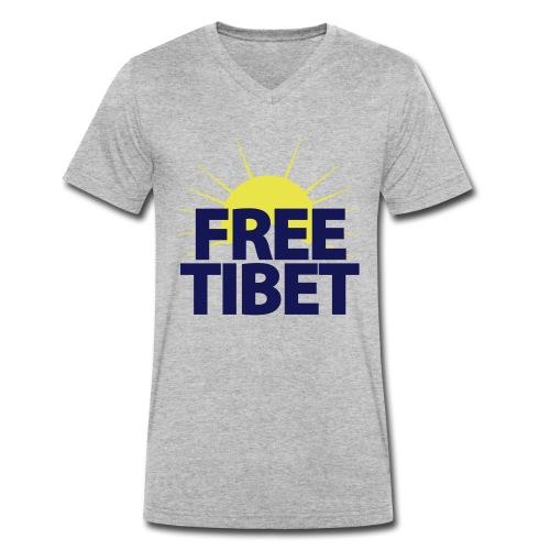 Free-Tibet Team Tibet - Männer Bio-T-Shirt mit V-Ausschnitt von Stanley & Stella