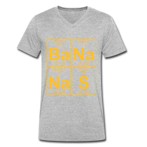 Ba-Na-Na-S (bananas) - Full - Men's Organic V-Neck T-Shirt by Stanley & Stella