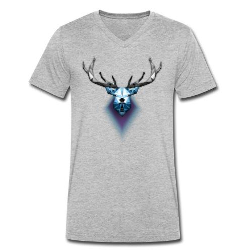 Low Poly Deer - T-shirt ecologica da uomo con scollo a V di Stanley & Stella