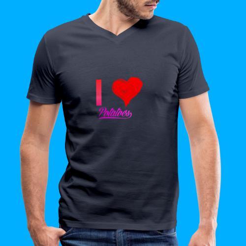 I Heart Potato T-Shirts - Men's Organic V-Neck T-Shirt by Stanley & Stella