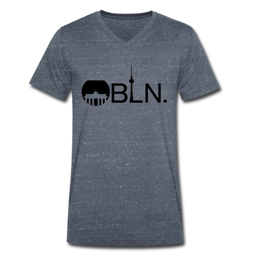 BLN Print - Men's Organic V-Neck T-Shirt by Stanley & Stella