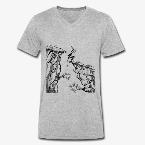 Schluchtenscheisser - Männer Bio-T-Shirt mit V-Ausschnitt von Stanley & Stella