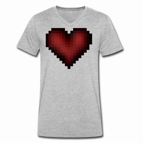 Pixxelheart - Männer Bio-T-Shirt mit V-Ausschnitt von Stanley & Stella