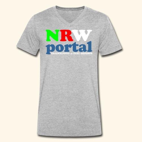 NRW PORTAL - Männer Bio-T-Shirt mit V-Ausschnitt von Stanley & Stella