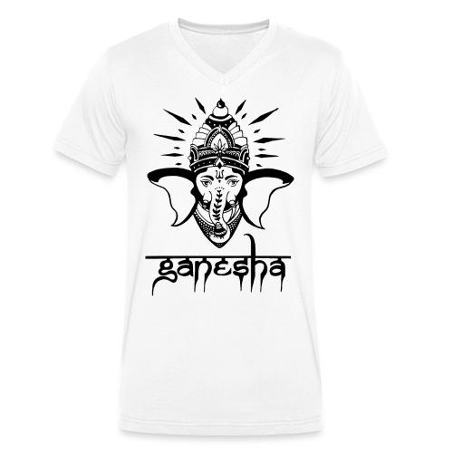 Ganesha - Männer Bio-T-Shirt mit V-Ausschnitt von Stanley & Stella