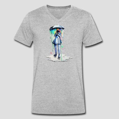 Umbrellagirl - Männer Bio-T-Shirt mit V-Ausschnitt von Stanley & Stella