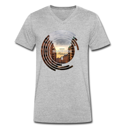 Hamburg Geometrische Form Kreis Spectrum - Männer Bio-T-Shirt mit V-Ausschnitt von Stanley & Stella