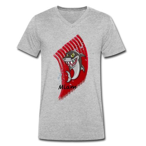 Requin miam - T-shirt bio col V Stanley & Stella Homme