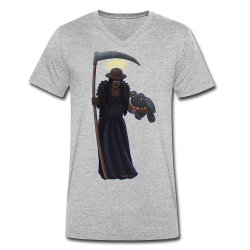 Malaria falciparum - schwarze Dame mit Sichel - Männer Bio-T-Shirt mit V-Ausschnitt von Stanley & Stella