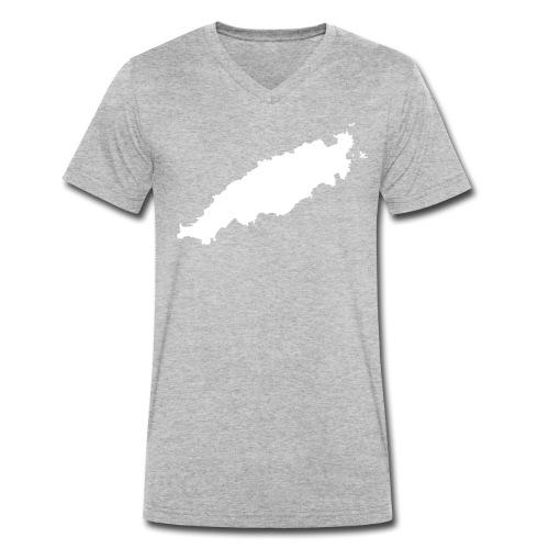 Tobago Silhouette - Men's Organic V-Neck T-Shirt by Stanley & Stella