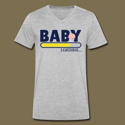 Baby_is_loading - Männer Bio-T-Shirt mit V-Ausschnitt von Stanley & Stella