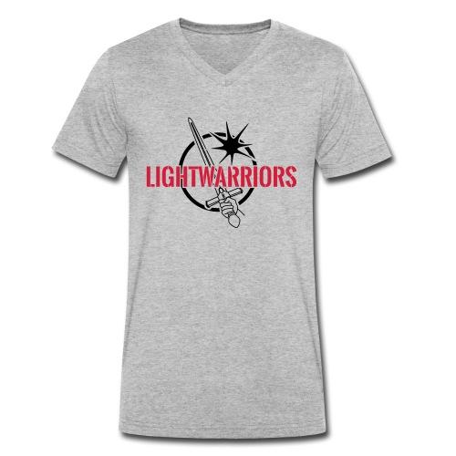 Lightwarriors Logo - Männer Bio-T-Shirt mit V-Ausschnitt von Stanley & Stella