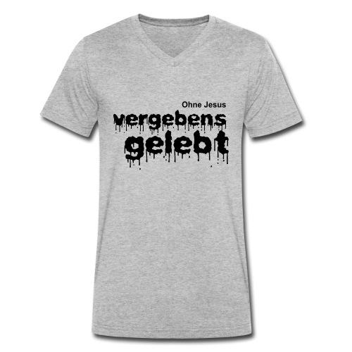 Vergebens gelebt (JESUS shirts) - Männer Bio-T-Shirt mit V-Ausschnitt von Stanley & Stella